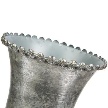 Vitale Margari Gümüş Metal Ayaklı Vazo Renkli